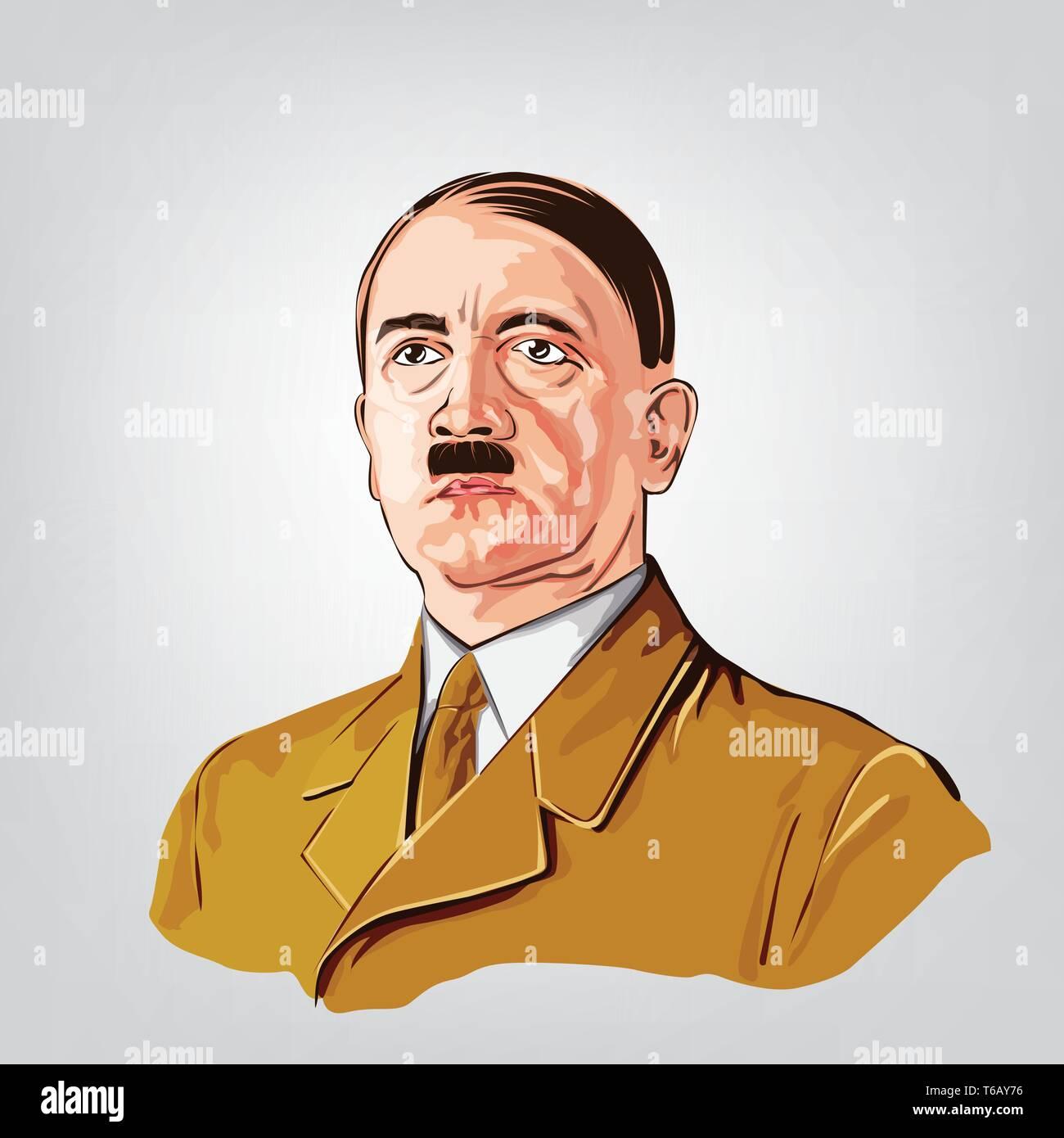 Adolf Hitler simplified vector. - Stock Vector
