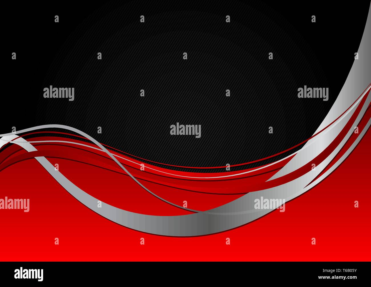Red And Black Abstract Wave Wallpaper With Copy Space Vector
