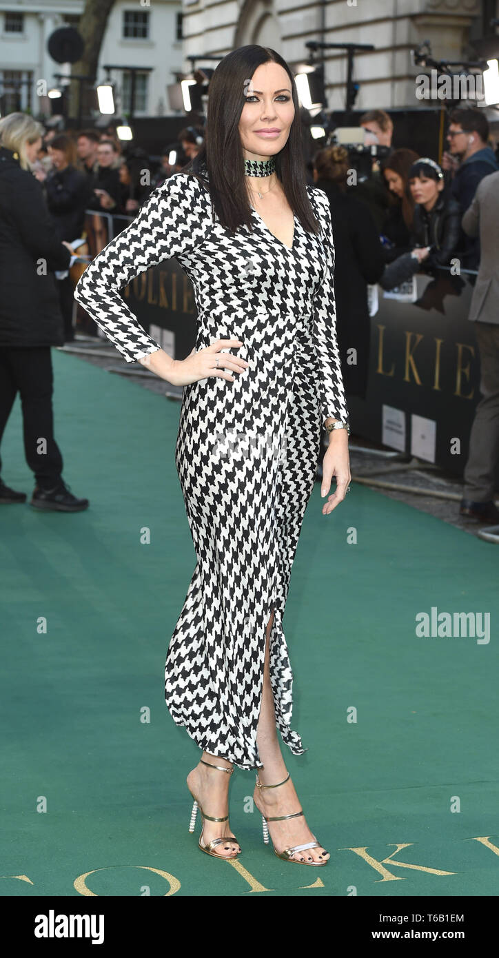 Photo Must Be Credited ©Alpha Press 079965 29/04/2019 Linzi Stoppard Tolkien UK Premiere At Curzon Mayfair London - Stock Image