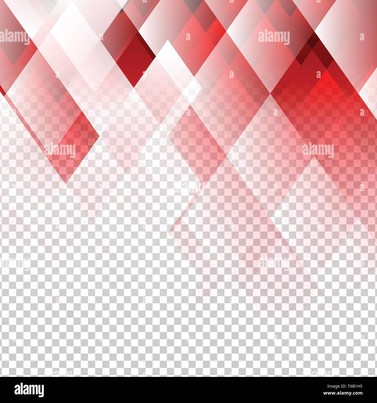 Geometric Elements Red Color Abstract Vector With