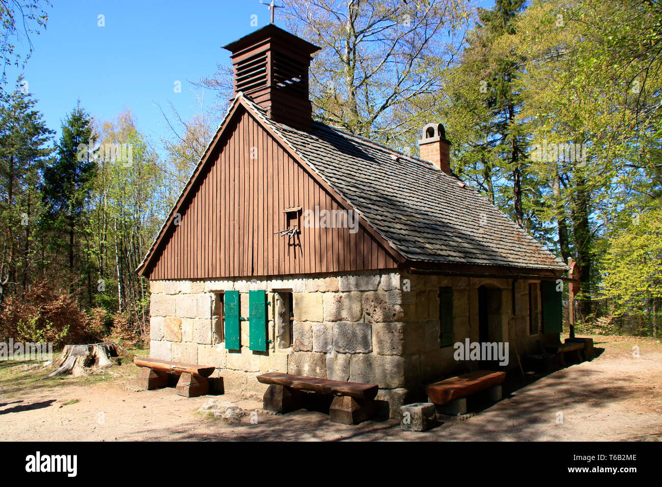 Old forge in the rock city at Jonsdorf bei Zittau in Saxony Stock Photo