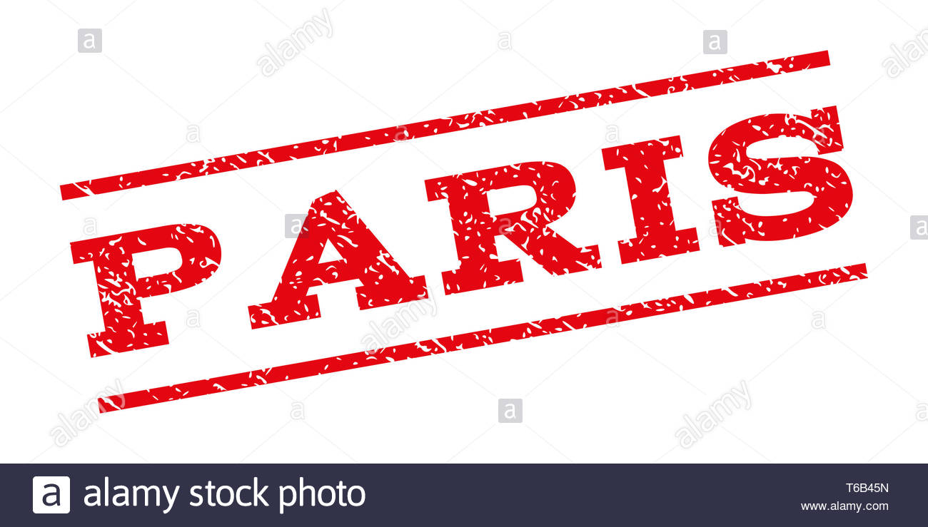 Paris Watermark Stamp - Stock Image
