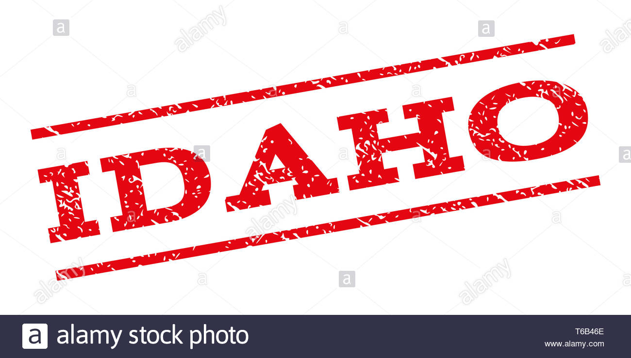 Idaho Watermark Stamp - Stock Image