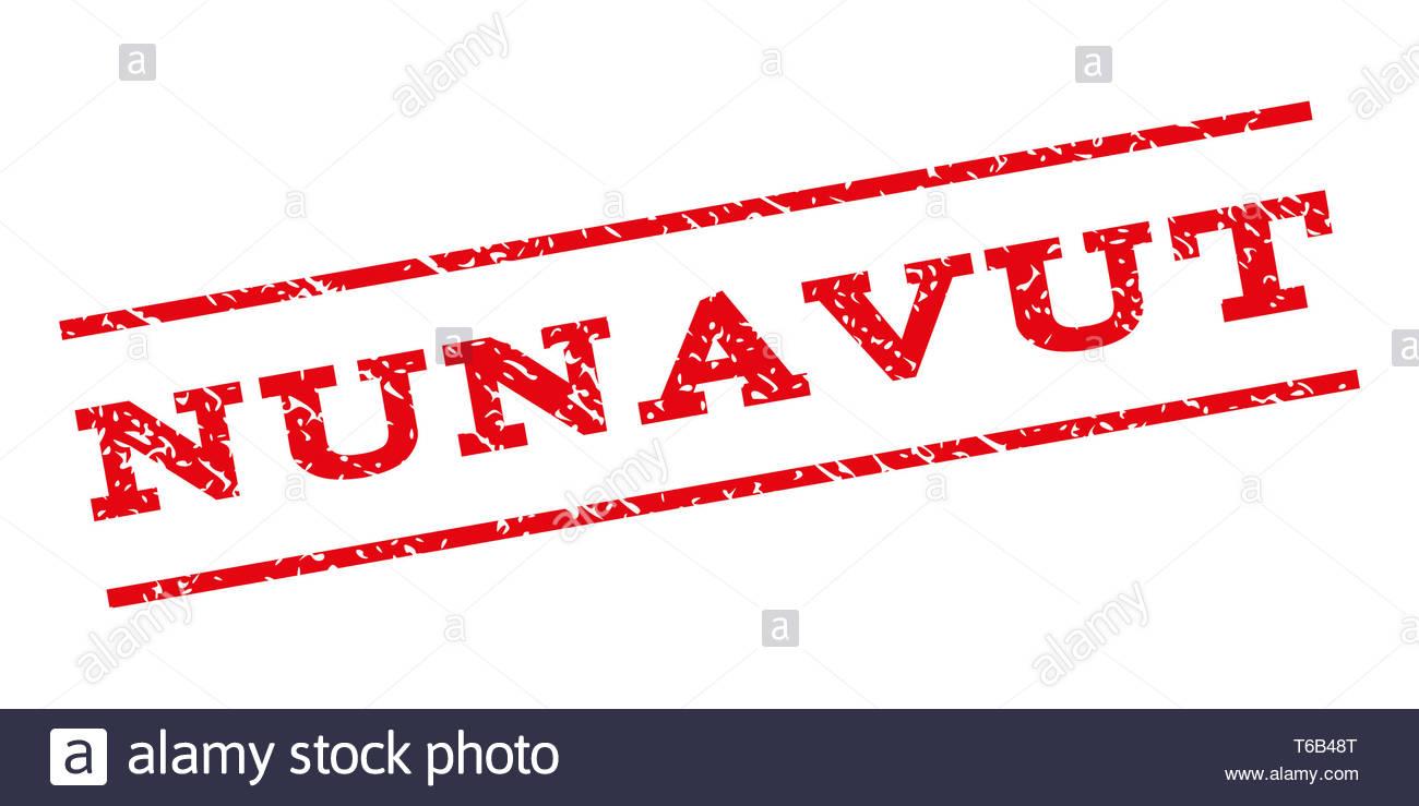 Nunavut Watermark Stamp - Stock Image
