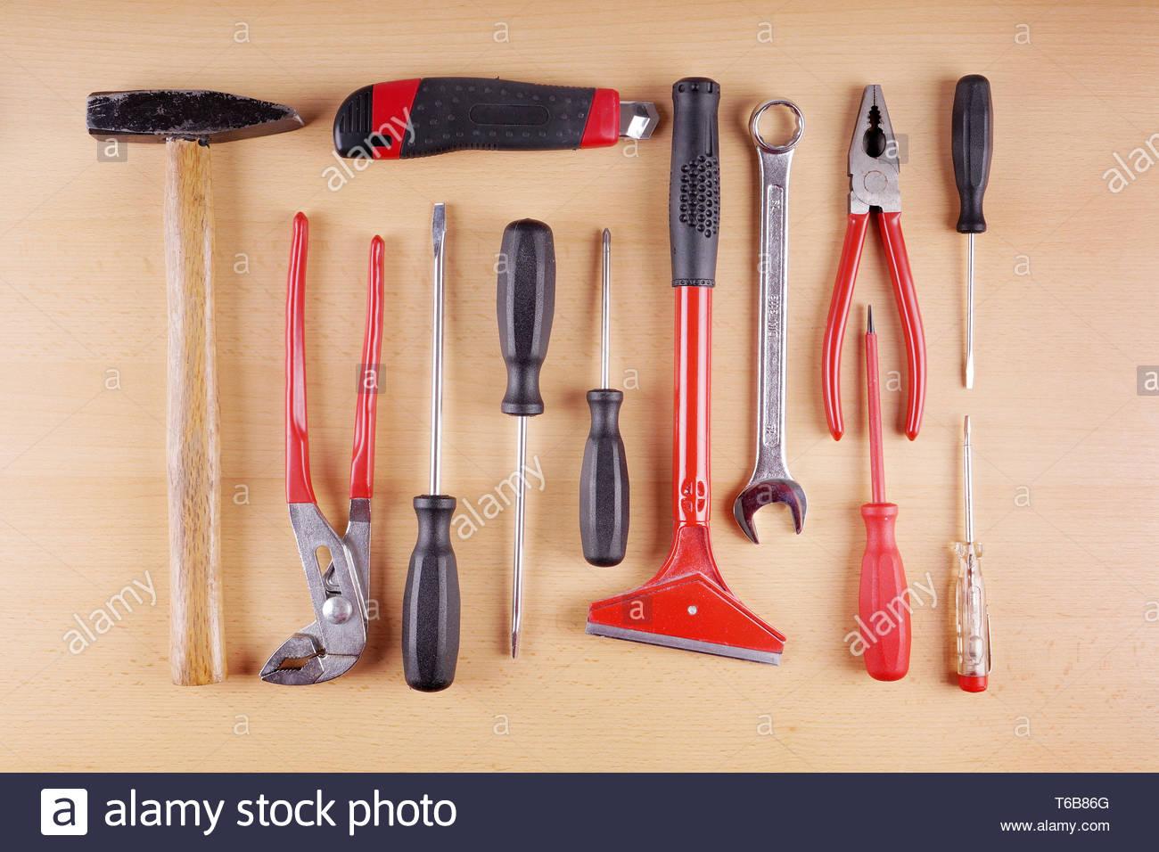 work tool set - Stock Image