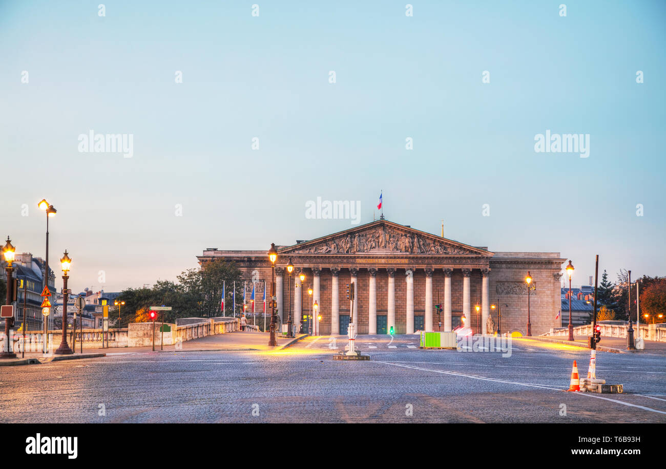 Assemblee Nationale (National Assembly) in Paris, France - Stock Image