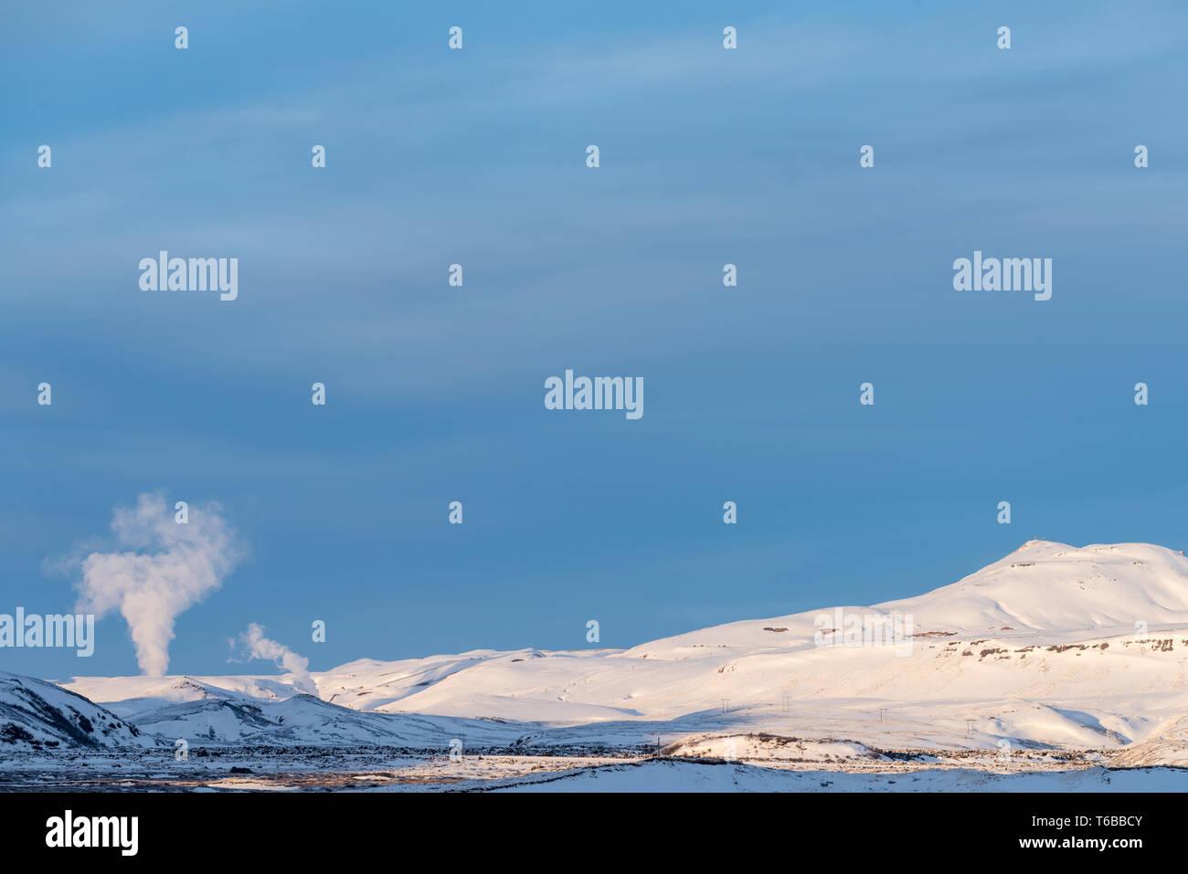 Namafjall Iceland Stock Photo