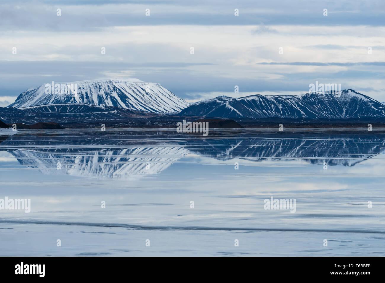 Myvatn lake Iceland Stock Photo