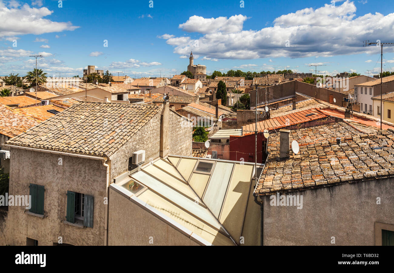 Town Aigues-Mortes. France - Stock Image