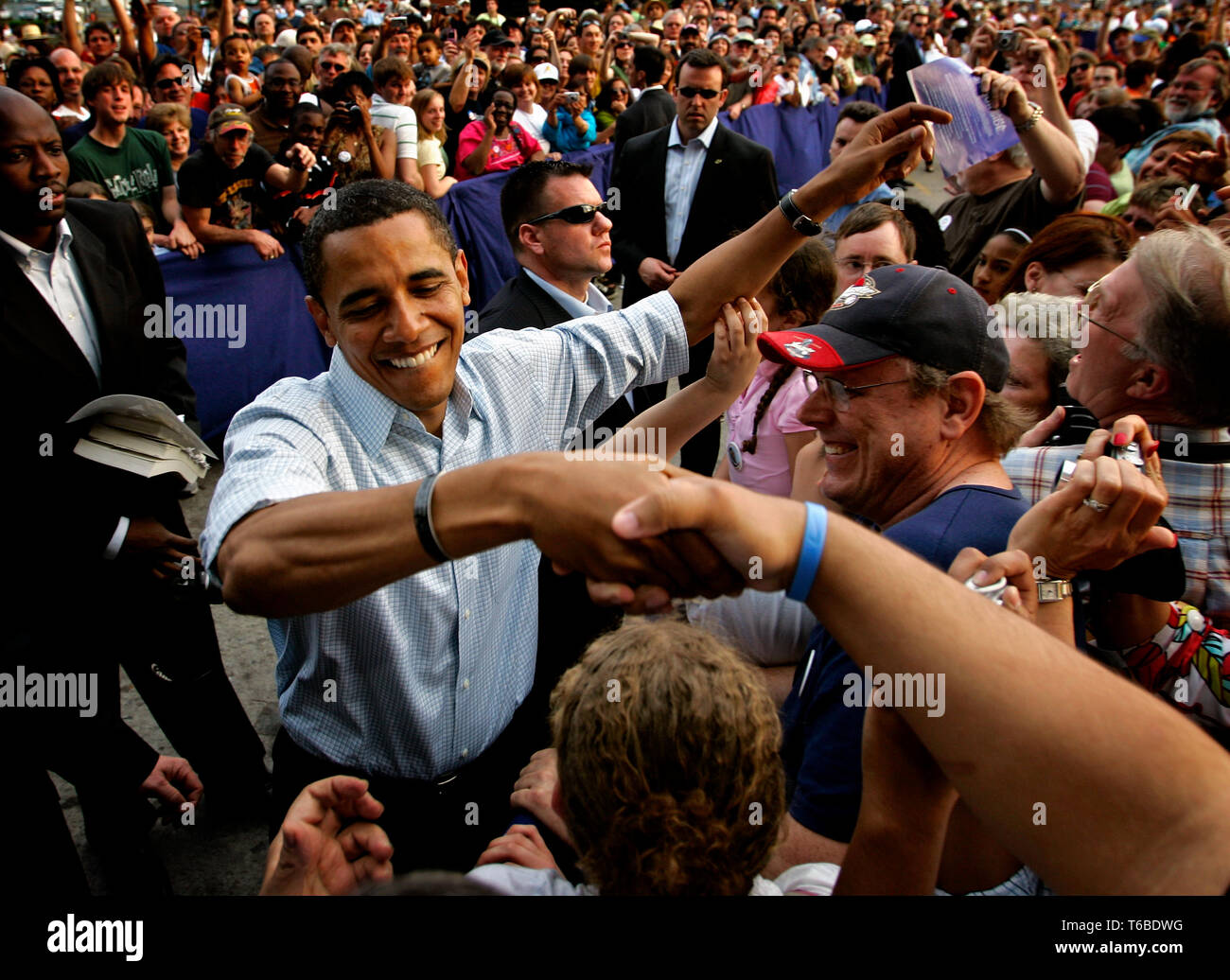The primary elections in Pennsylvania. Obama rallies in Lancaster - Stock Image