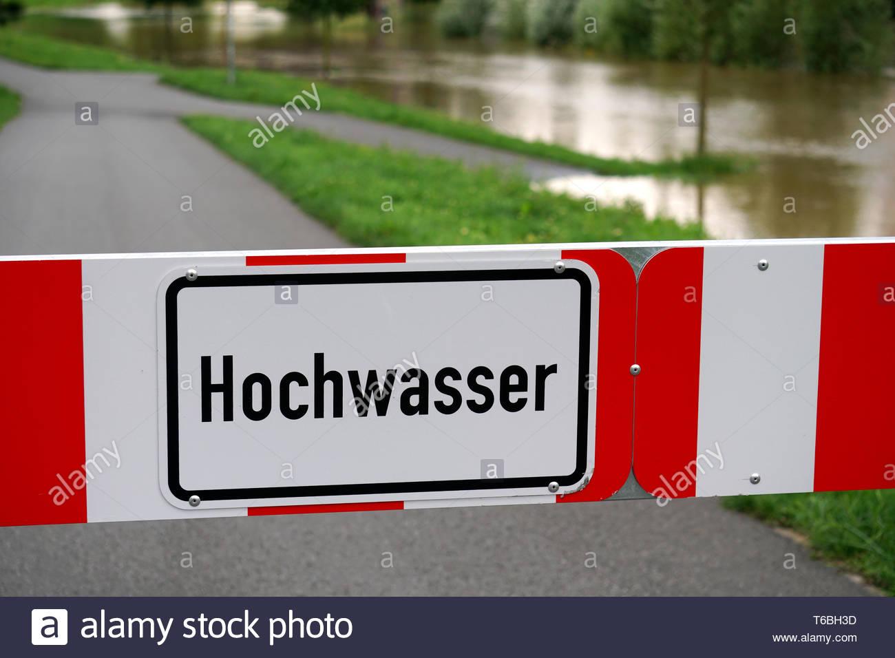 Hochwasser - Stock Image