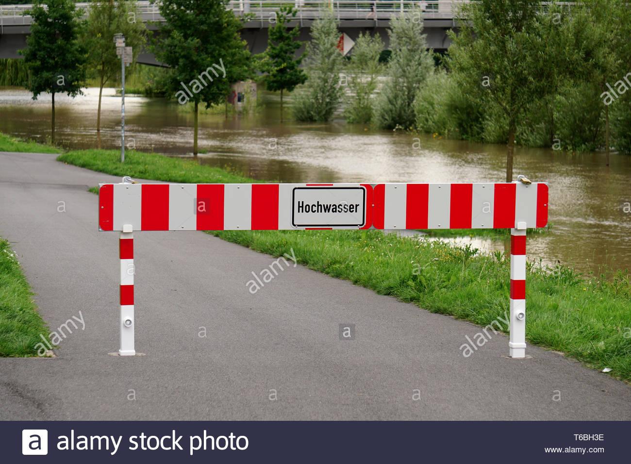Hochwasser in Hannover - Stock Image