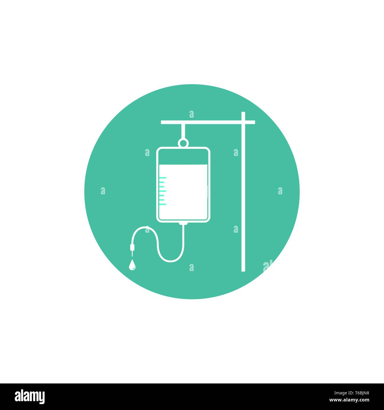 Vector illustration, flat design. IV bag icon - Stock Vector