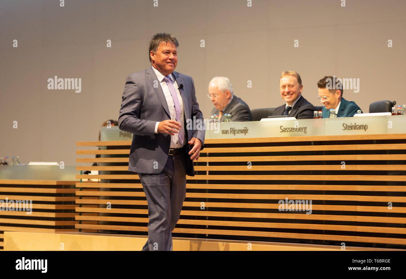 Essen, Germany, 30.04.2019, Innogy Annual General Meeting: CEO Uwe Tigges. - Stock Image