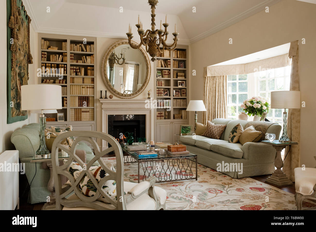 Georgian Style Living Room Stock Photo 244894160 Alamy