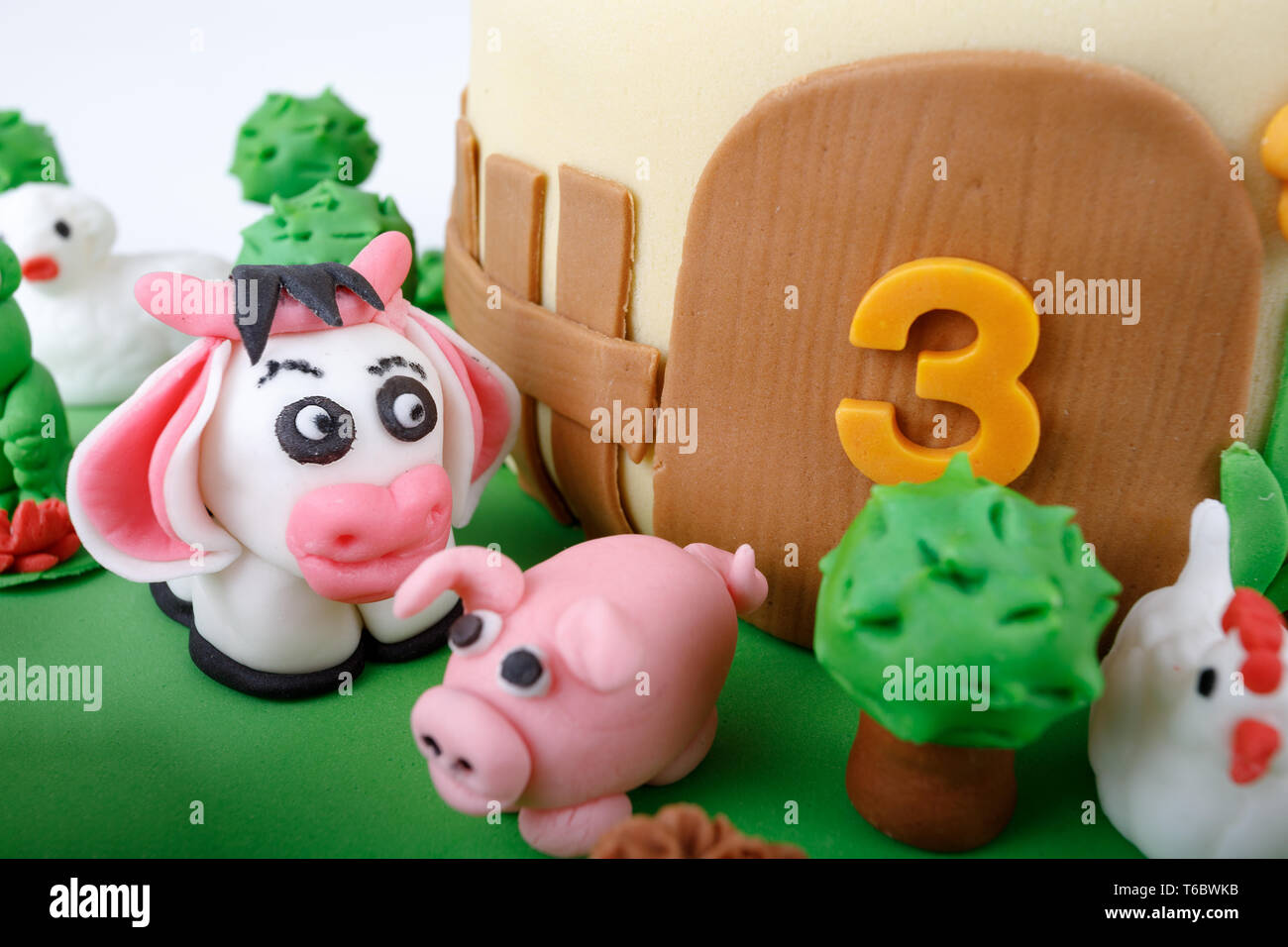 Fantastic Animal Farm Birthday Cake Cake Stock Photos Animal Farm Birthday Birthday Cards Printable Opercafe Filternl