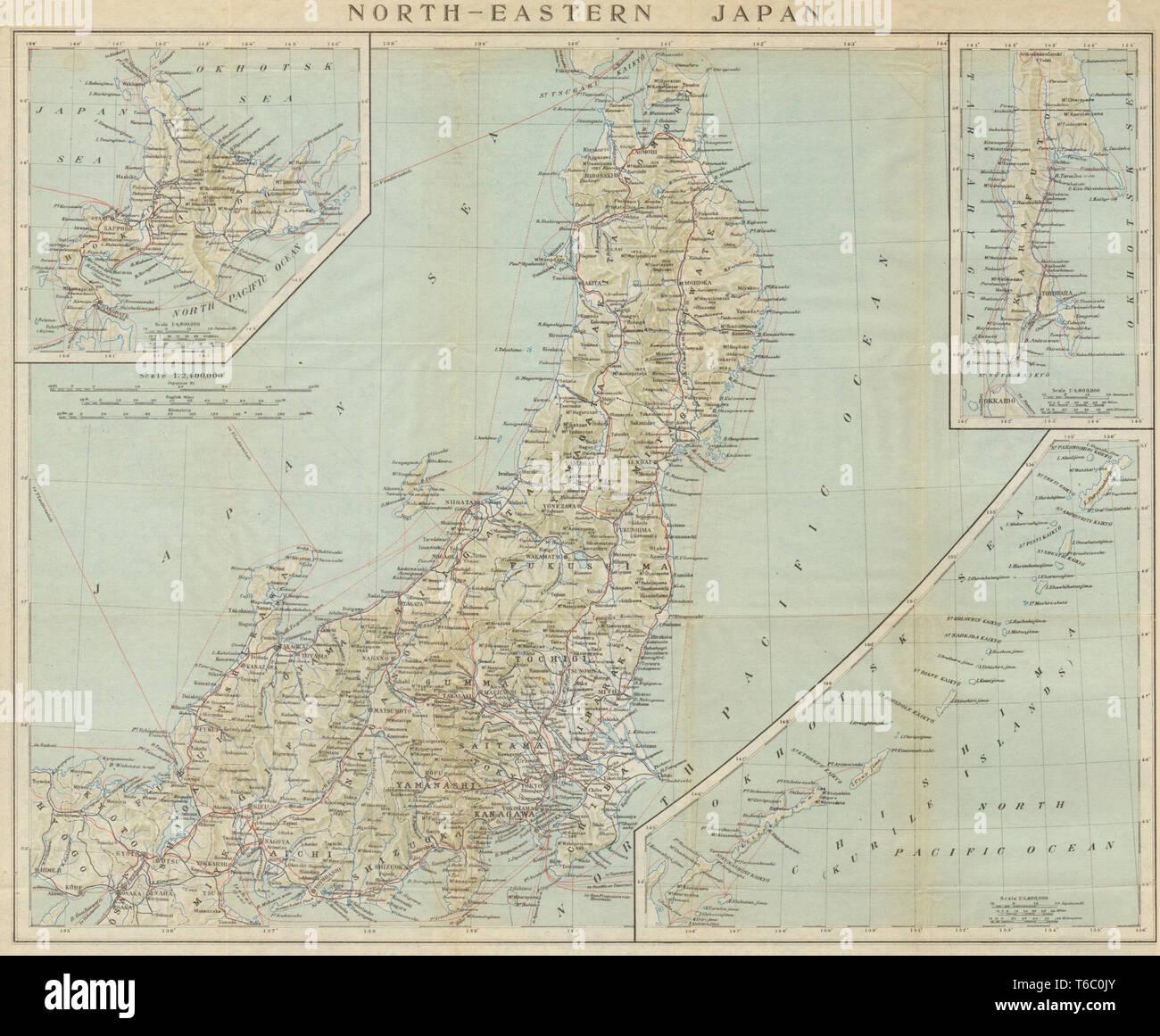 North-Eastern Japan. Honshu, Hokkaido, Sakhalin & Kurile ...