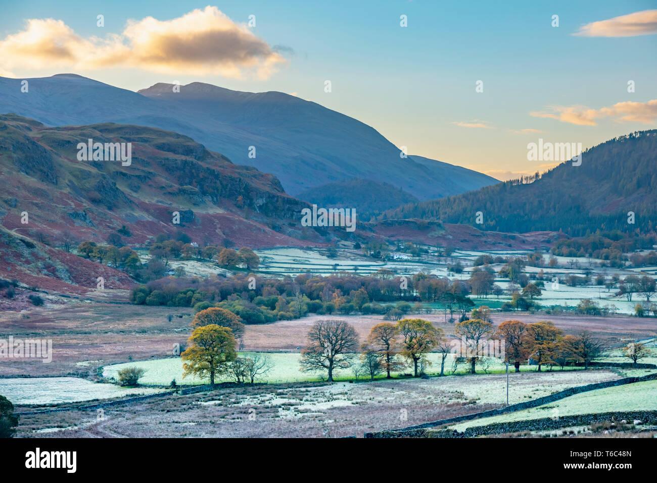 UK, Cumbria, Lake District, Keswick, Helvellyn from near Castlerigg Stock Photo
