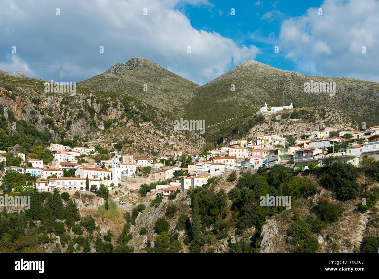Albanien, Dorf Palase bei Dhermi - Stock Image