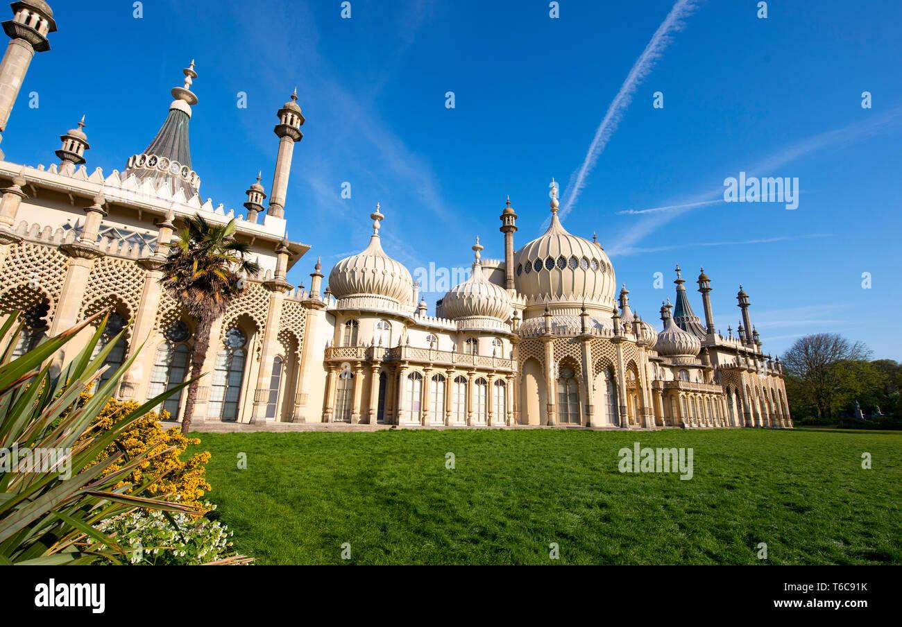 The Royal Pavilion and Gardens Brighton UK Stock Photo