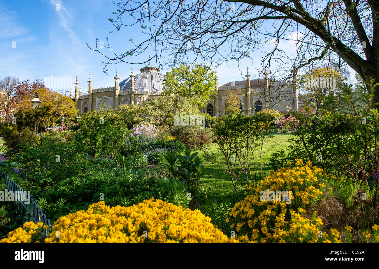 Royal Pavilion and Gardens Brighton UK Stock Photo