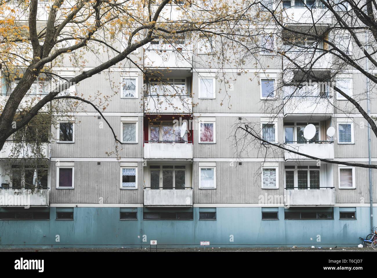 social housing in Berlin Kreuzberg Stock Photo