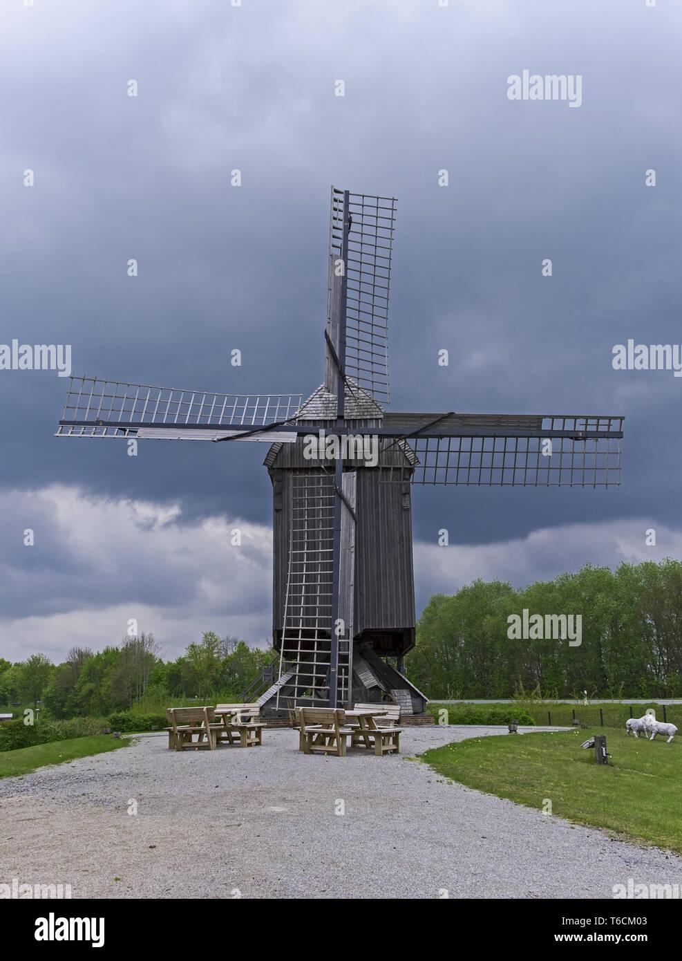 Bockwindmill Weseke - Stock Image