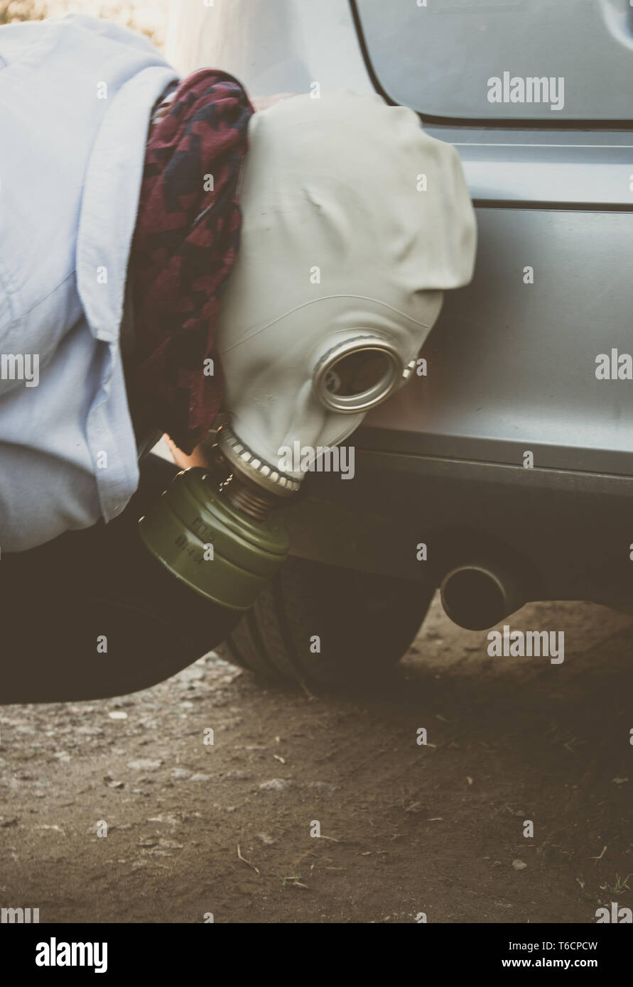 exhaust scandal - Stock Image