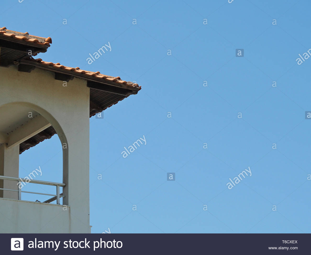 view of a rooftop - Stock Image