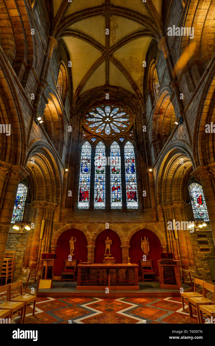Kirkwall Cathedral; Orkney; UK - Stock Image