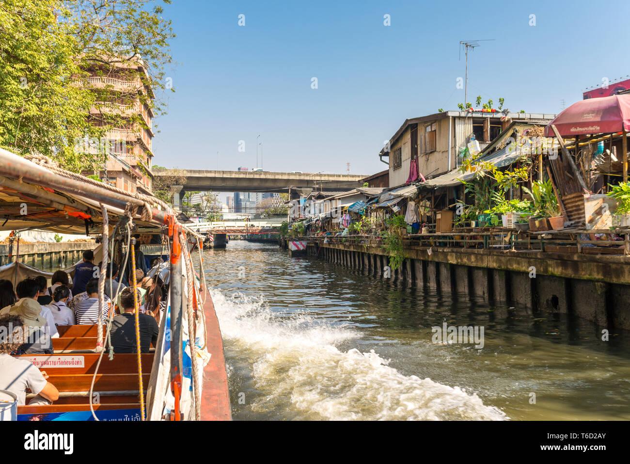 Express boat service on the Khlong Saen Saep in Bangkok Stock Photo