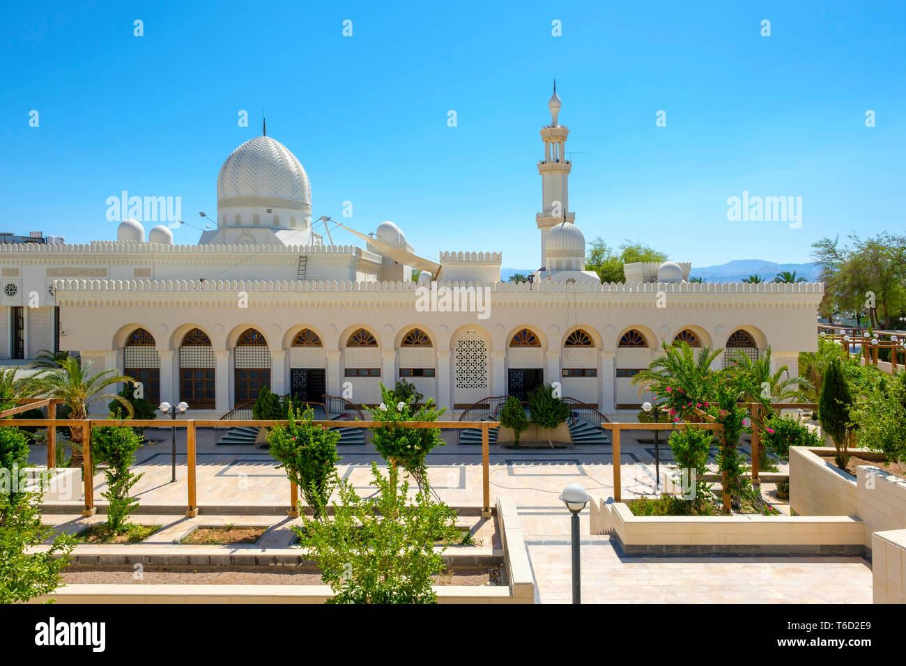 Jordan, Aqaba Governorate, Aqaba. Sharif Hussein bin Ali Mosque. - Stock Image