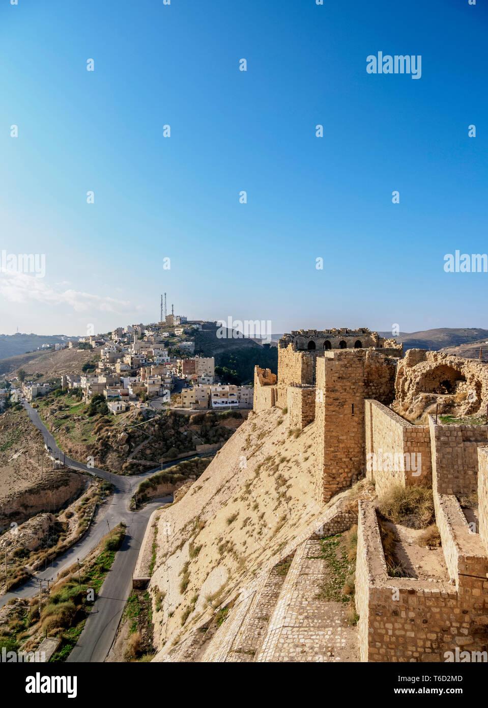 Kerak Castle, Al-Karak, Karak Governorate, Jordan Stock Photo