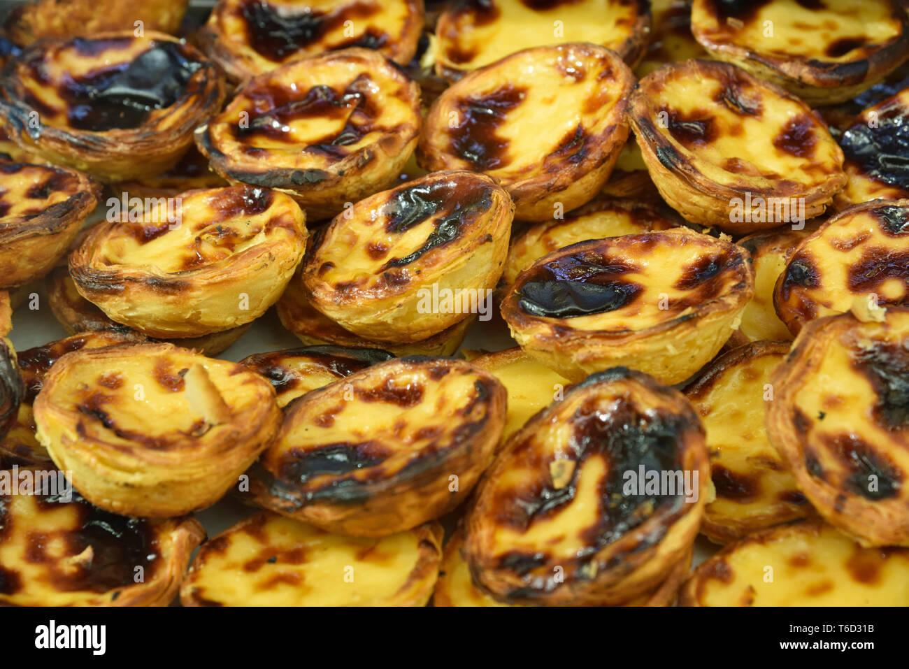 Traditional pasteis de nata (custard tarts). Belem, Lisboa - Stock Image
