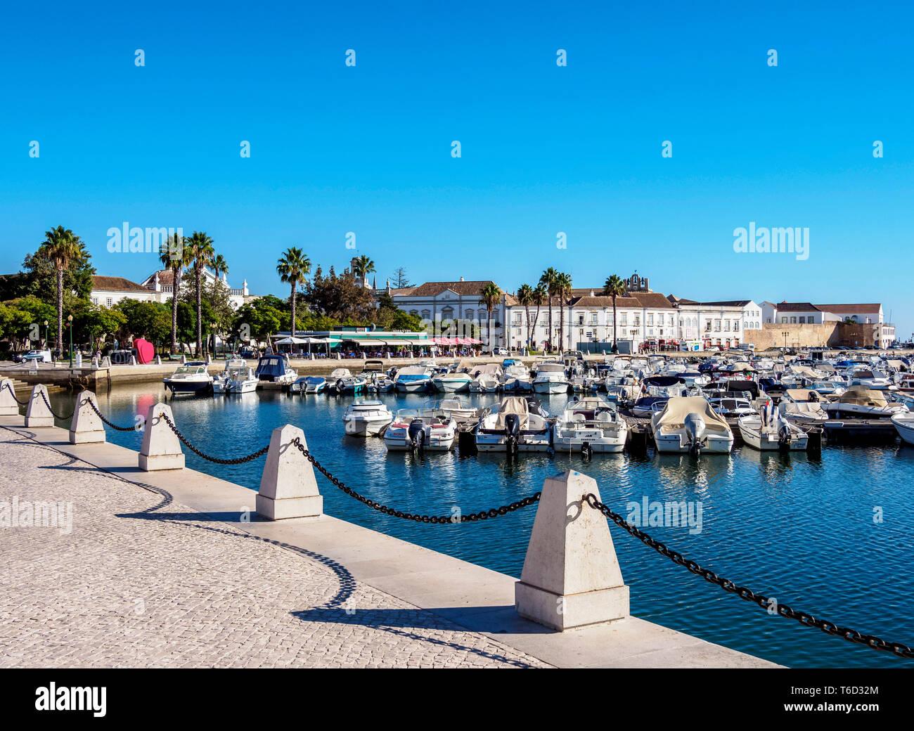 Marina in Faro, Algarve, Portugal - Stock Image