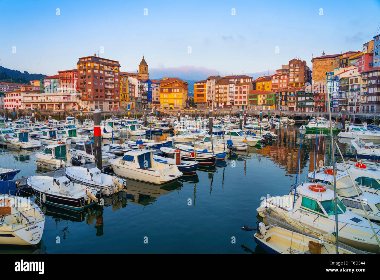 Spain, Vizcaya Province, Basque Country, Bermeo, harbour. - Stock Image