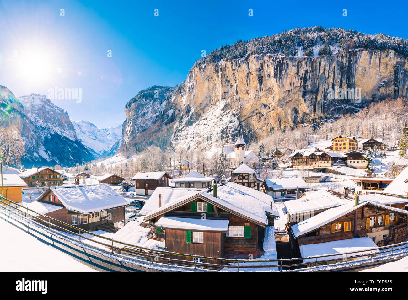 Lauterbrunnen, Berner Oberland, canton of Bern, Switzerland - Stock Image