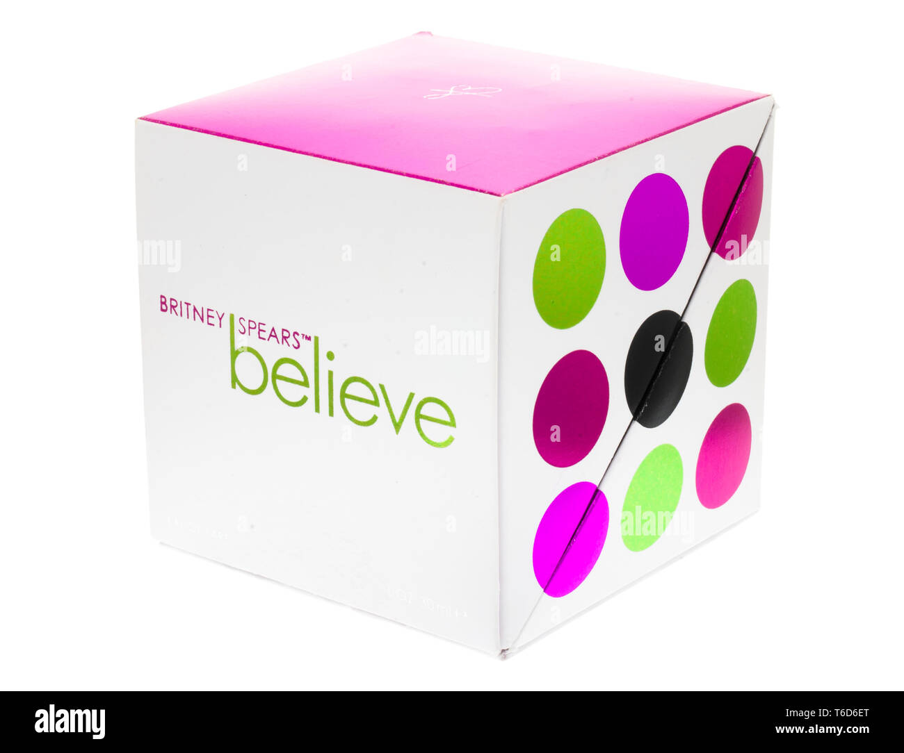 Britney Spears unisex Believe fragrance first launched in 2007 also the name of her album. - Stock Image