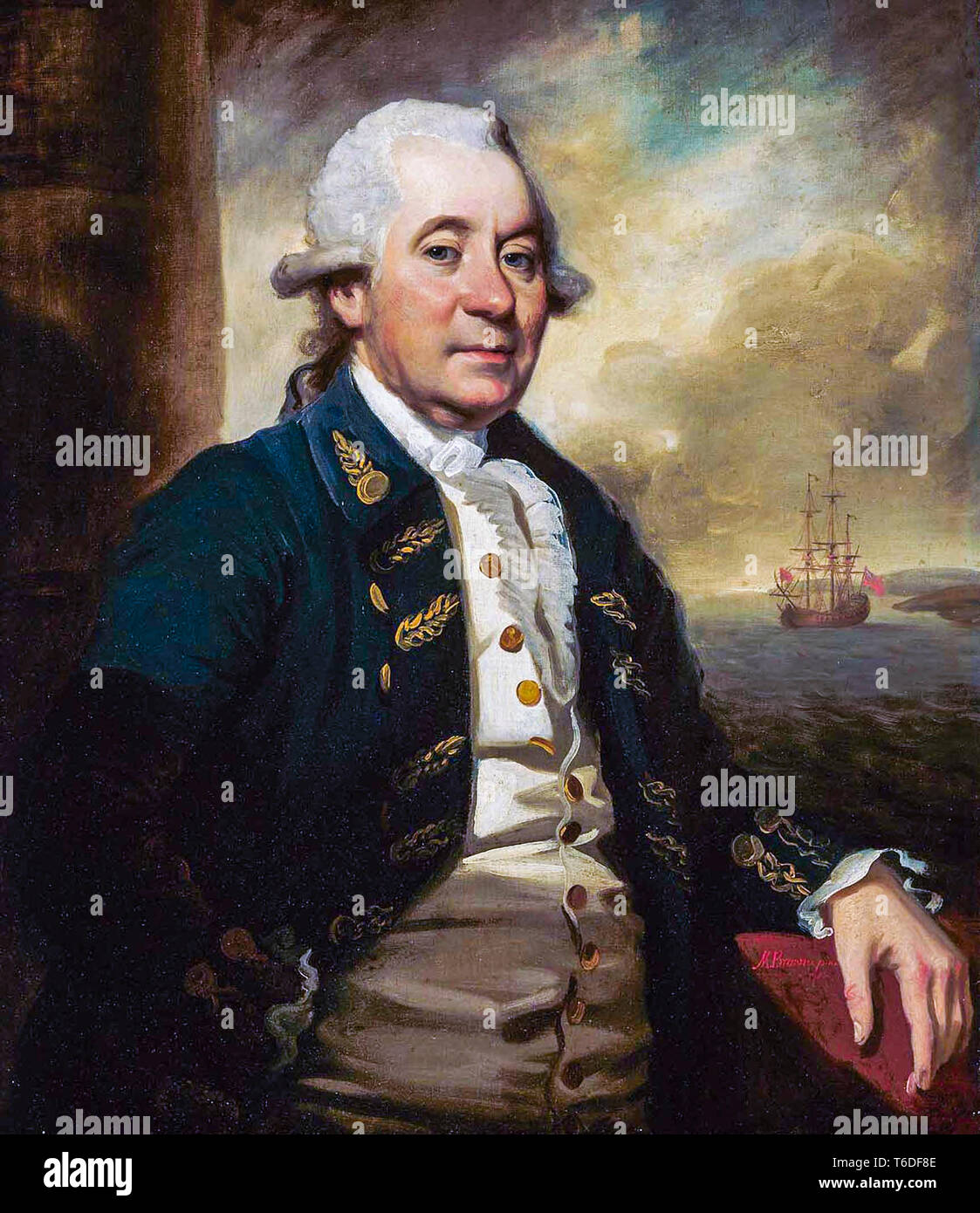Mather Brown (1761–1831) A Commander in the East India Company, portrait painting, 1786 - Stock Image