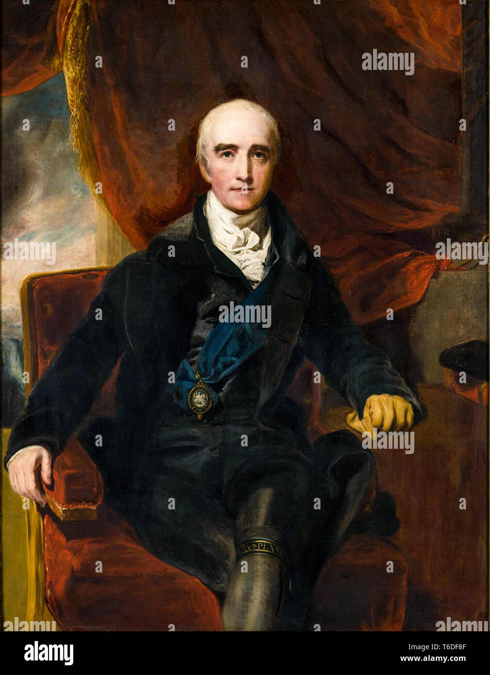Portrait of Richard Colley Wellesley,1st Marquess Wellesley, Governor-General of India 1798-1805 (1760-1842), Studio of Thomas Lawrence, c. 1813 - Stock Image