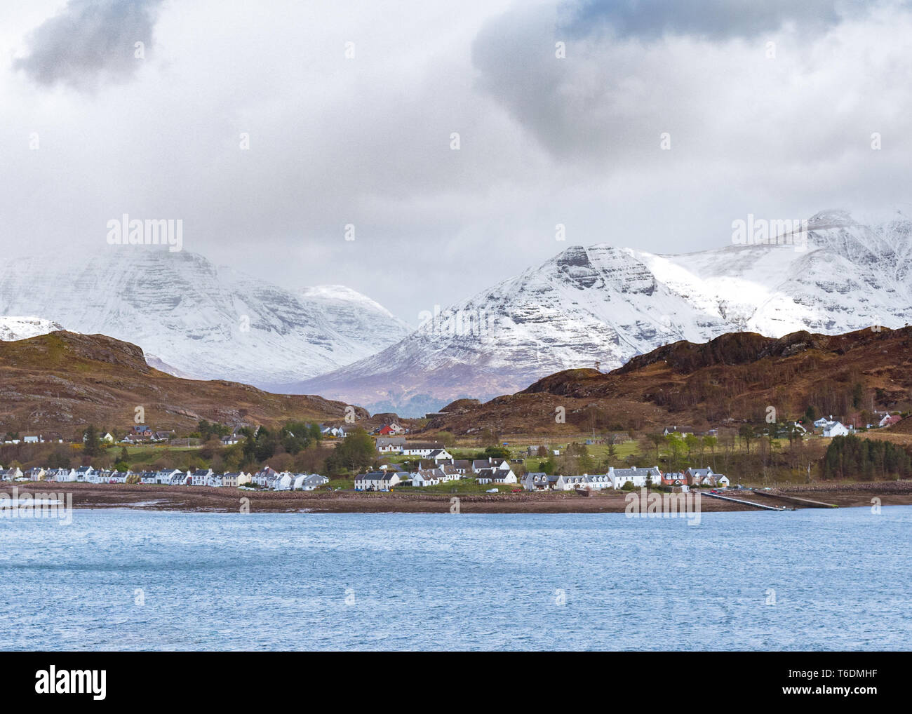 Shieldaig village on the North Coast 500 route, Torridon, Scotland, UK - Stock Image