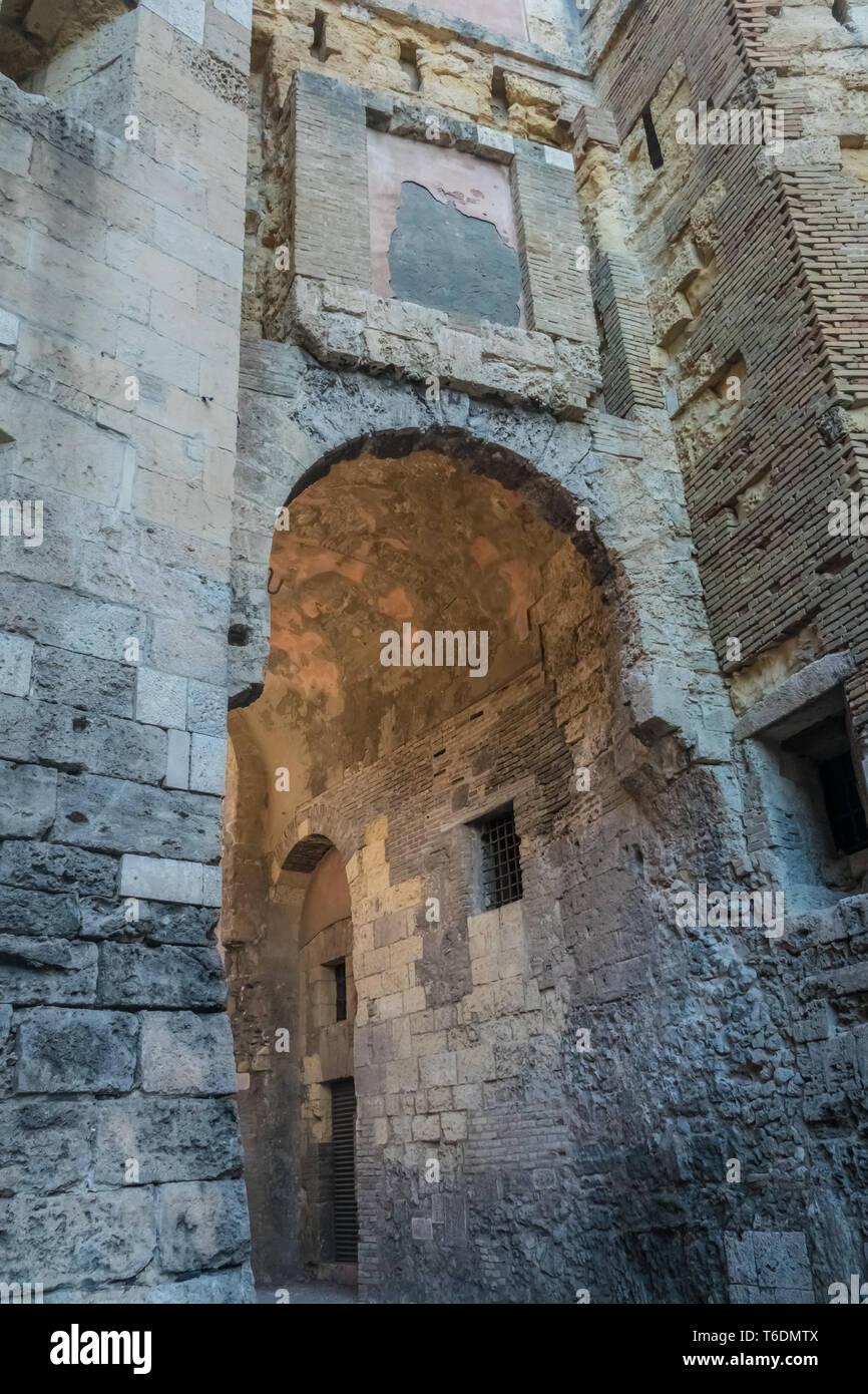 The Torre di San Pancrazio, a medieval tower nin the Castello district of Cagliari, Sardinia, Italy. - Stock Image