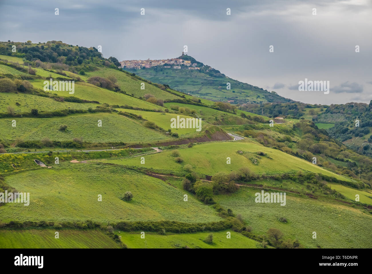 Rural landscapes and scenes from the inner countryside of northern Sardinia, Italy. - Stock Image