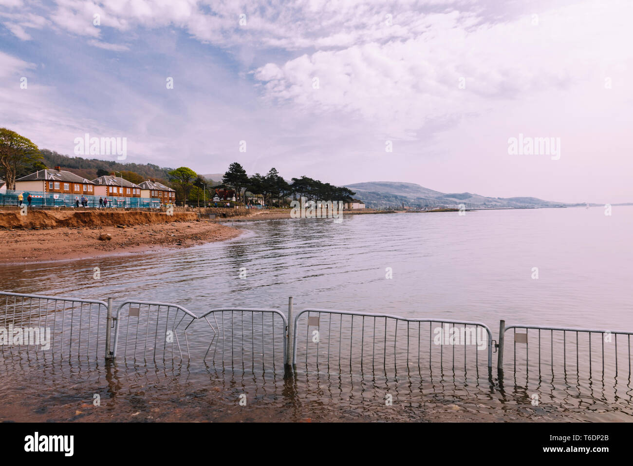 Fairlie Village to Largs Town Coastline Scotland 3 - Stock Image