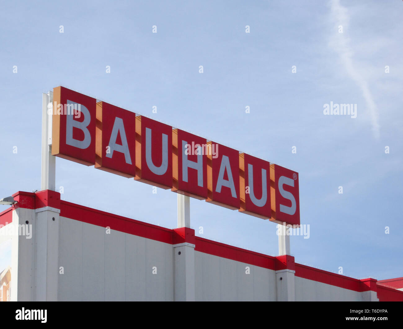 LJUBLJANA, SLOVENIA - MARCH 22 2019: Bauhaus is a retail chain offering products for home improvement, gardening an workshop Stock Photo