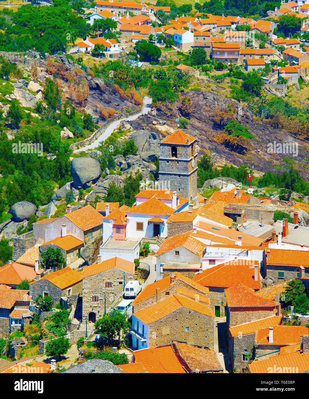 Monsanto village aerial view. Portugal Stock Photo