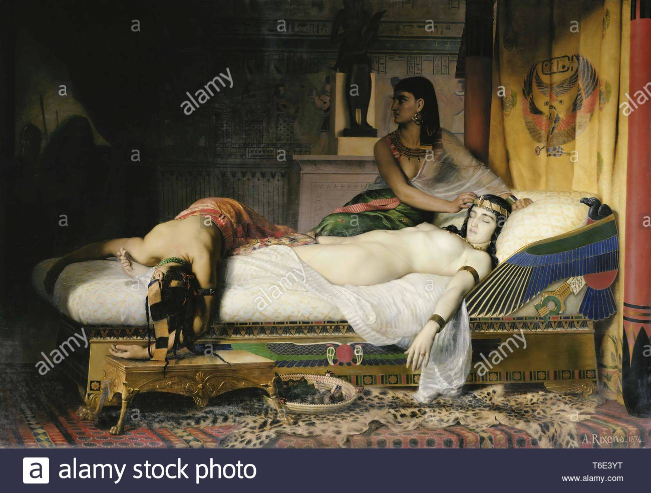 Jean-Andre Rixens-Death of Cleopatra - Stock Image