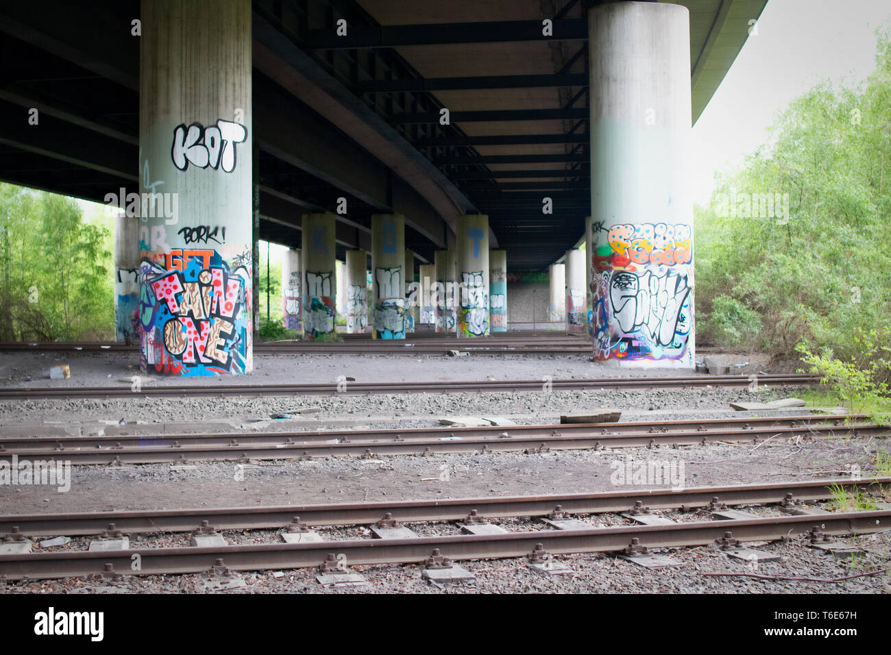 Lost place - old station in Dortmund, Germany - Stock Image