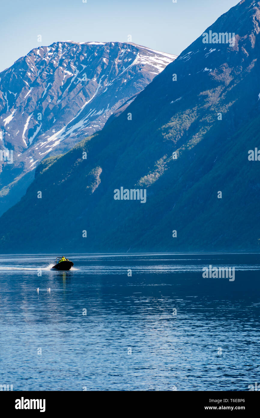 Tourist Boats Near Hellesylt - Stock Image
