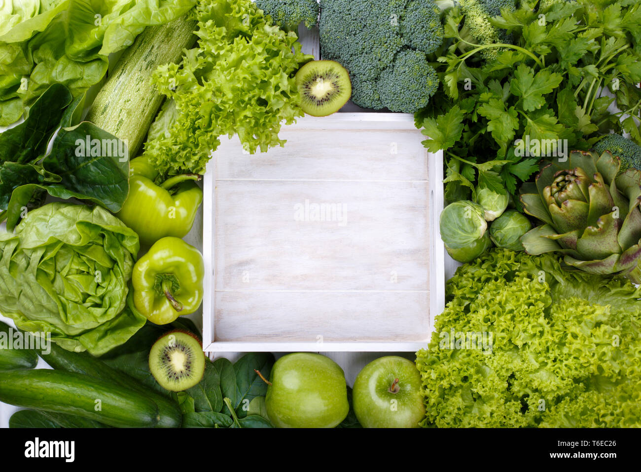 Mix Of Green Fruits And Vegetables Stock Photo 244949886 Alamy